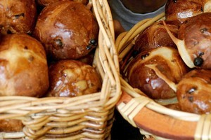 Wild Wheat hot cross buns. Photo / Chris Skelton