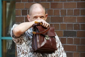 Paulus Nieuwenhuiysen arrives at the High Court. Photo / Greg Bowker
