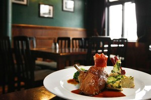 The slow-roasted duck at Clare Inn proved to be an outstanding dish. Photo / Steven McNicholl