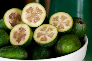 Now's the time where there will be plenty of feijoas to go into a variety of different recipes. Photo / Babiche Martens