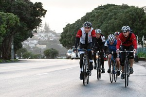Cycling in a group can be safer than riding solo. Photo / Sarah Ivey