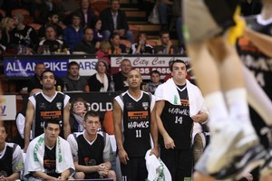 Hawks bench itching to be on court. Photo / Supplied