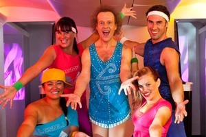 Richard Simmons in the Air New Zealand advertisement. Photo / Supplied