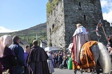 A medieval procession at Carlingford during Ireland's National Heritage Week. Photo / Tourism Ireland