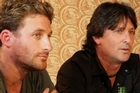 Cast members Dean O'Gorman (left) and Tim Balme.
