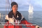 Greenpeace are trying to stop the 'deep sea oil' survey. Video supplied by Greenpeace