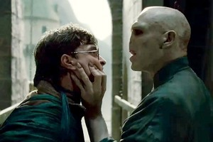 Daniel Radcliffe (left) and Ralph Fiennes in  Harry Potter and the Deathly Hallows- Part 2 . Photo/Supplied B
