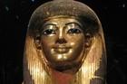 The gilded funerary mask of Tjuya, King Tut's grandmother. Photo / Greg Dixon