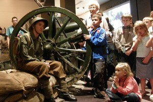 Children can learn about Anzac Day in the war exhibitions at Auckland's War Memorial Museum. Photo / Supplied