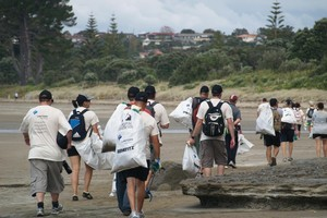False teeth, toys and other garbage was cleared away along Auckland's coastline by a 900-strong clean-up team this week. Photo / Supplied