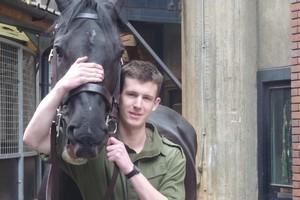 Trooper Blair Newton with his horse Gurkha. Photo / Alanah Eriksen