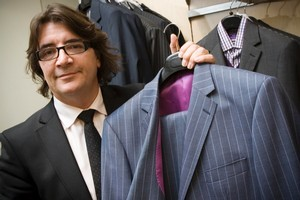 RJB Design owner Ronald Biddick says John Key will look 'elegant' in a custom-made suit in the same cut as this. Photo / Paul Estcourt