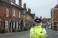 Tony Churchill is the only copper in Old Amersham village. Photo / Alanah Eriksen