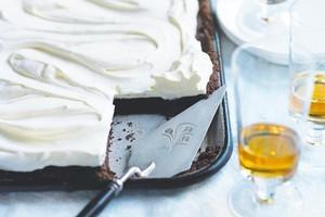 Chocolate tart with coffee cream. Photo / Chris Court