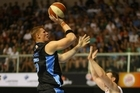 Breakers firebrand centre Gary Wilkinson was last night cleared by the judiciary to play in the grand final series beginning tomorrow night. Photo / Paul Estcourt