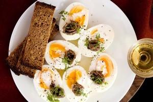Jewish egg salad. Photo / Babiche Martens