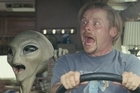 Alien Paul goes on a road trip with new buddy, Simon Pegg. Photo / Supplied