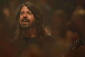 Lead Foo Fighter Dave Grohl reveals he has dreamt his former Nirvana band member Kurt Cobain were still alive and that they had reformed the grunge group. Photo / Richard Robinson