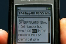 Beware of messages saying you've won a competition and need to send money or bank details. Photo / Brett Phibbs