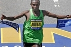 Kenya's Geoffrey Mutai has won the Boston Marathon in 2 hours, 3 minutes, 2 seconds. That's the fastest anyone has ever run the 42.2km distance.