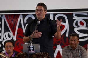 Hone Harawira announces his new party and standing for a by-election, Auckland. Photo / NZPA