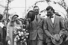 King George with Queen Elizabeth. Photo / NZ Herald