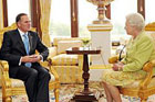 Prime Minister John Key with Queen Elizabeth. Photo / The British Monarchy