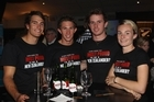 From left, Blair Tuke, Ryan Sissons, Daniel Bell and Nikki Hamblin at the Olympic Committee's campaign launch. Photo / Getty Images
