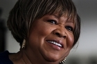 Mavis Staples was powered by a tight three-piece band and three back-up singers. Photo / AP