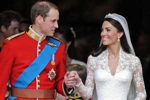 Britain's Prince William and his wife Kate, Duchess of Cambridge. Photo / AP