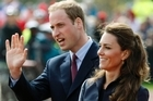 Britain's Prince William accompanied by his then fiancee Kate Middleton. Photo / AP