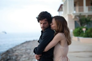 Alex (Romain Duris) and Juliette (Vanessa Paradis) in a scene from 'Heartbreaker'. Photo / Supplied
