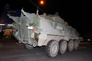 An NZ patrol in a light armoured vehicle has been attacked in Afghanistan. File photo / Sarah Ivey