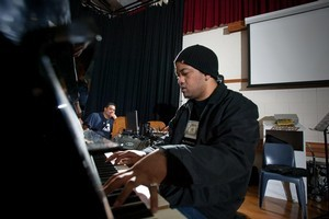 Rapper Anonymouz was among the tutors for the four-day  composing course. Photo / Supplied