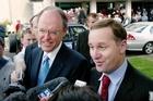 Don Brash and John Key. Photo / Kenny Rodger
