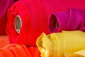 Bolts of cloth at Global Fabrics. Photo / Babiche Martens