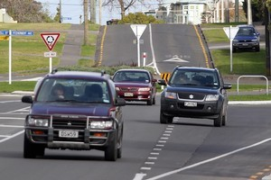 Not all Easter motorists are interested in life in the fast lane. Photo / APN