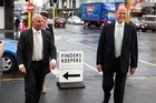 Rodney Hide, left, is chopped liver and Don Brash is party leader. Photo / Brett Phibbs