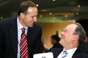 John Key and Don Brash could soon be working closely again. Photo / Martin Sykes