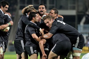 The New Zealand Maori team celebrate their victory over England last year. Photo / Getty Images