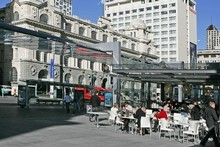 Effort has been made to liven up the Britomart area but those efforts need to extend up Queen St. Photo / NZ Herald