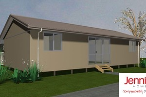 Jennian Homes' temporary houses have no bricks, no tiles and no concrete floorpads, unlike so many of the Christchurch houses damaged in the quakes. Photo / Supplied