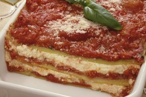 Keep your lasagne moist with a top layer of tomato or bechamel sauce. Photo / Thinkstock