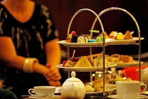 High tea at the Langham Hotel in Auckland. Photo / Dean Purcell