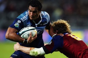 Jerome Kaino of the Blues will be up against Adam Thomson of the Highlanders. Photo / Getty Images
