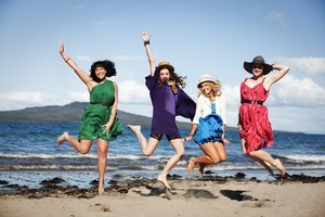 Go Girls; Cody (Bronwyn Turei), Britta (Alix Bushnell), Amy (Anna Hutchison) and Olivia (Esther Stephens). Photo / Supplied