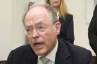Act Leader Don Brash speaks during the press conference. Photo / Mark Mitchell