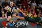 Lance Hohaia on the burst for the Kiwis during Friday's Anzac test loss against Australia. Photo / Getty Images