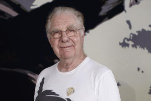 Artist Max Gimblett was wise to allow Savage and Quilter into his workspace. Photo / Supplied