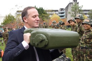 The package John Key announced includes $25 million for Defence Force courses for unemployed young people. Photo / Mark Mitchell